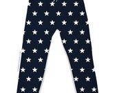 Navy & White Star Joggers - All Over Print Jogging Pants - Sweatpants - Unisex - Drawstring