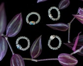 Swarovski Crystal and Sterling Silver Stretch Rings