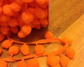 Riley Blake Pom Pom Trim Regular Orange (1 Metre)