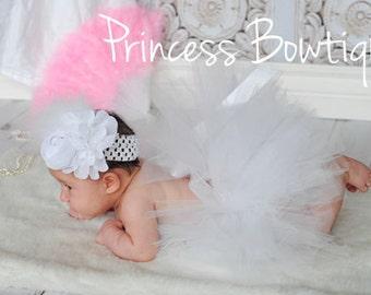 White Baby Tutu - Newborn Baby Tutu -  Baby Baptism Outfit - Christening tutu - Easter Tutu - Spring Baby Tutu - White Tutu Skirt