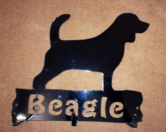 Beagle leash holder key rack