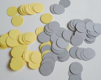 Yellow and grey confetti , Shower decorations, Table confetti, Baby Shower Decorations