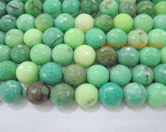 """15.5"""" 4mm/6mm Natural Moss Green Opal round 128 faceted, Natural Green gemstone, Spring jewelry beads, Green grass agate beads"""