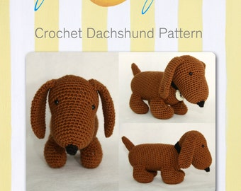 Super Cute Crochet Dachshund Pattern-digital download