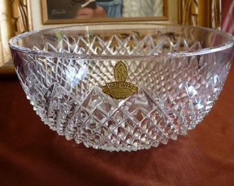 Franz WITTWER  Crystal in the MOZELL Pattern Centerpiece Display Salad Bowl.. Made in GERMANY