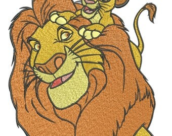 INSTANT DOWNLOAD Machine Embroidery Designs. Mufasa&Simba. The Lion King.