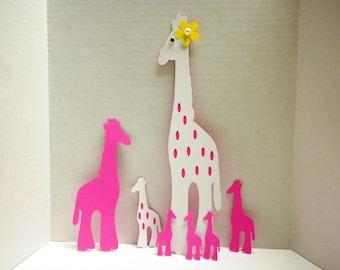 Die Cut Giraffes-Craft Supplies, Scrapbooking, Crafting, DIY Die Cut, Scrapbook, Craft Supplies, Embellishments