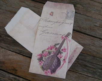 Shabby chic Vintage style Flower pattern Envelope pack - 4 styles