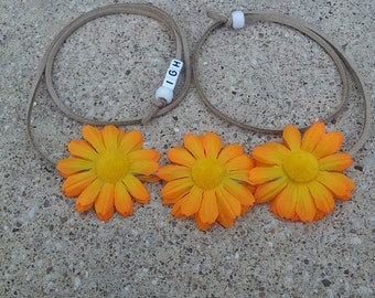 Sunburst Daisy Flower Halo/ Flower Headband/ Crown/ Halo