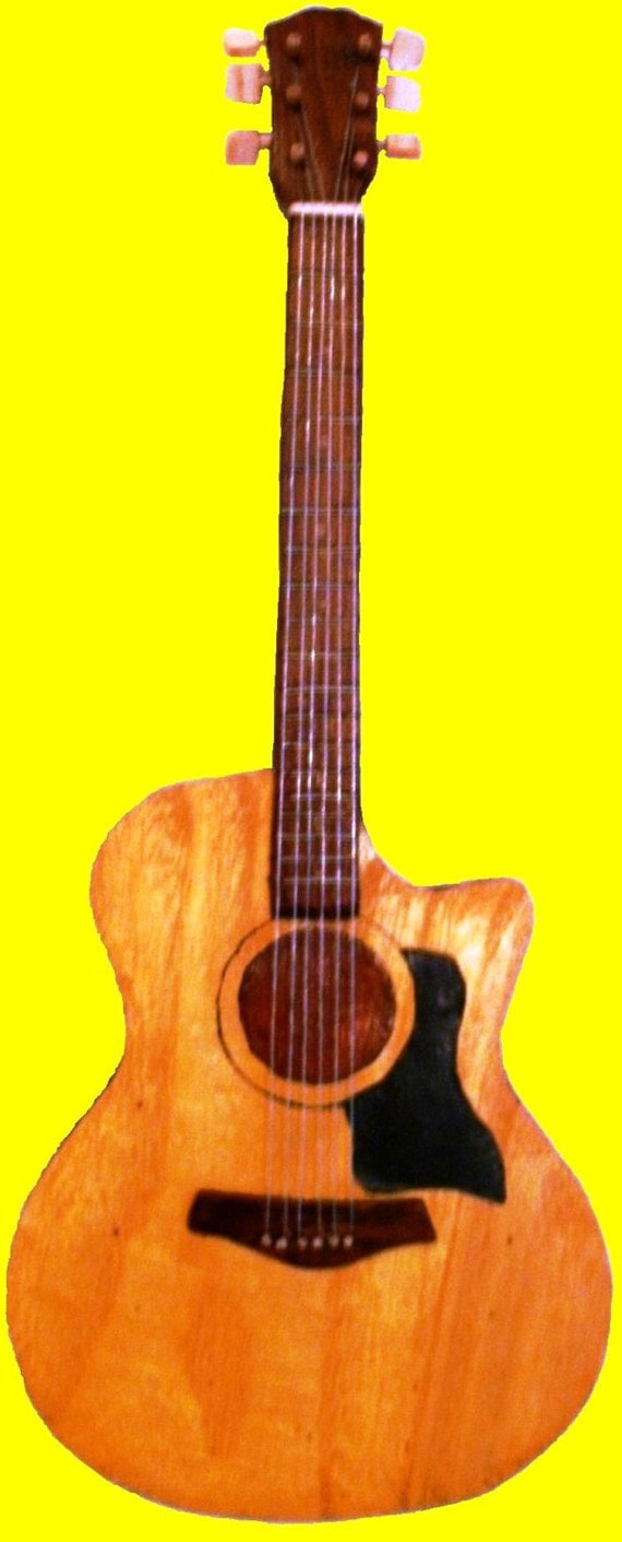Acoustic guitar guitar decor country music decor by for Acoustic guitar decoration