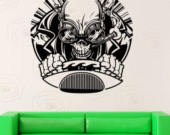 Wall Stickers Vinyl Decal Skull Rider Driver Creepy Zombie Gothic Decor (z2110)