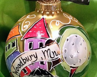 Hand Painted Ornaments by Les ~ Woodbury,Mn ~ Original Ornament