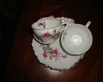 Bondware Japan Fine Porcelain Moss Rose Tea Sets!