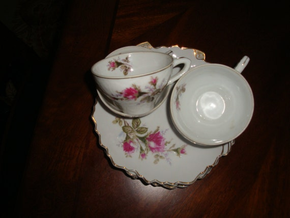 Bondware Japan Fine Porcelain Moss Rose Tea Sets