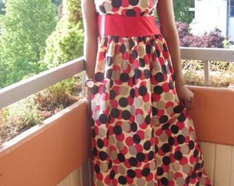 Long Ankara Summer Dress