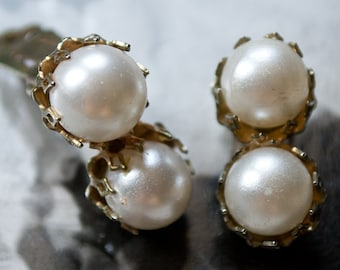Vintage Pearl Earrings- 1950's