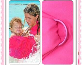 Watersling ring sling for baby fushia