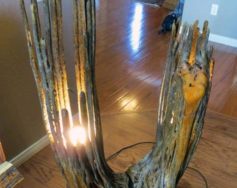 Saguaro Standing Lamp Made From Two Arms