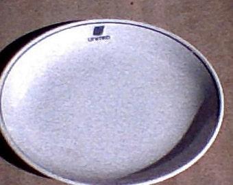 Samll Vintage United Airlines  Plate