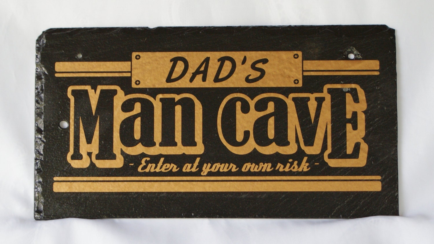 Gamer Man Cave Gifts : Man cave sign dad s room unique slate