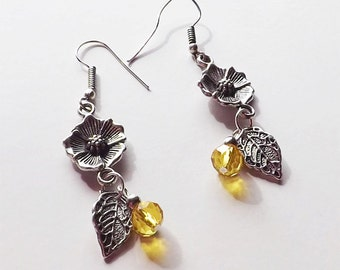 Marigold Floral Earrings