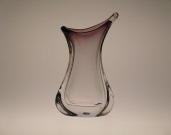 Czech Bohemian Art Glass Violet Vase