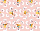 Fluttering Fields - LOTUS POND - Cloud9 Organic Cotton Fabric - 1 yard