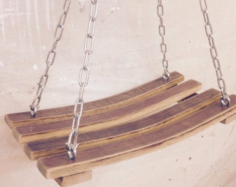 Wine Barrel Stave Swing