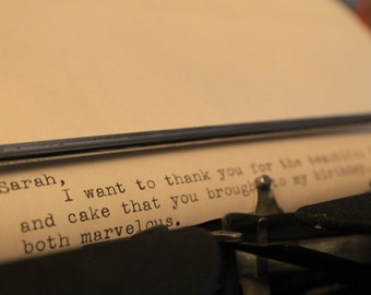 Typewritten Letter - Single Page