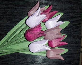 "Handcrafted wooden flowers ""Tekla"""