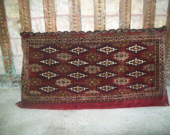 turkman yomut chuval carpet chuval ethnic rug yomut chuval