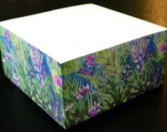 Sticky Note Cube Created From Original Art