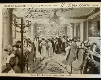 Antique French Postcard Paris: Grand Taverne Montmartre