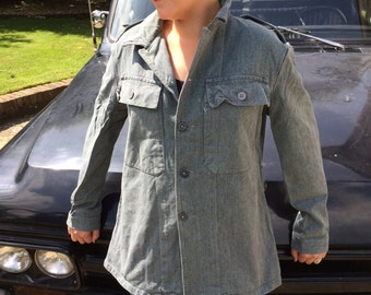 Swiss Denim Chore Jacket, True Vintage Prison Issue