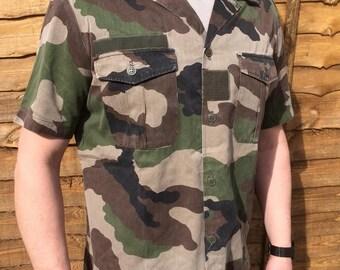 French F2 Camouflage Short Sleeve Shirt