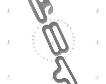 25|50 Bow Tie Hardware Necktie Adjustable NICKEL Hook Eye Slide bowtie supply set of 3 3/4 Inch