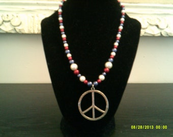 Patriotic Beaded Necklace