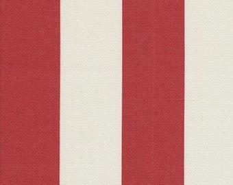 Outdoor Stripe Red & Off White, Stripe Fabric