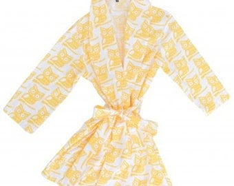 Yellow Owl Robe
