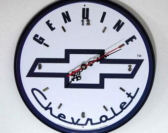 Chevy Logo Wall Clock - 11.75 Diameter - New