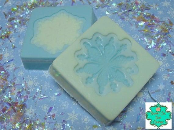 Snowflake soap bar