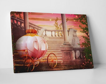 Princess Fairy Carriage. Gallery Wrapped Canvas Print