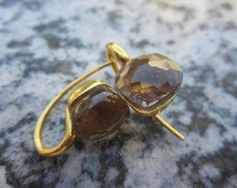 TOM K Earrings Nudo smoky quartz lemon quartz Gold workmanship goldsmith luxury
