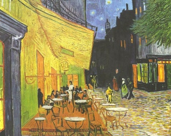 100%handpainted van gogh  Cafe Terrace at Night  oil painting reproduction for home decor wall art