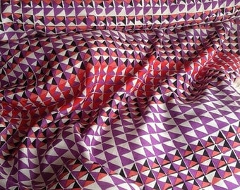 Geometric Silk Fabric by the Yard, Fabric by the Yard, Silk Yardage, Yardage