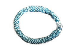 Rainbow Loom Metallic Blue and White Hexafish Bracelet. Any pattern of colors can be chosen. Very durable bracelet!