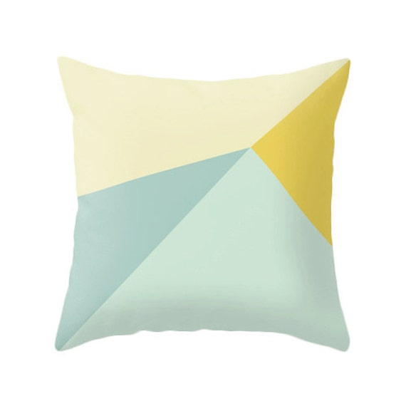 Teal and yellow cushion cover teal and yellow throw pillow