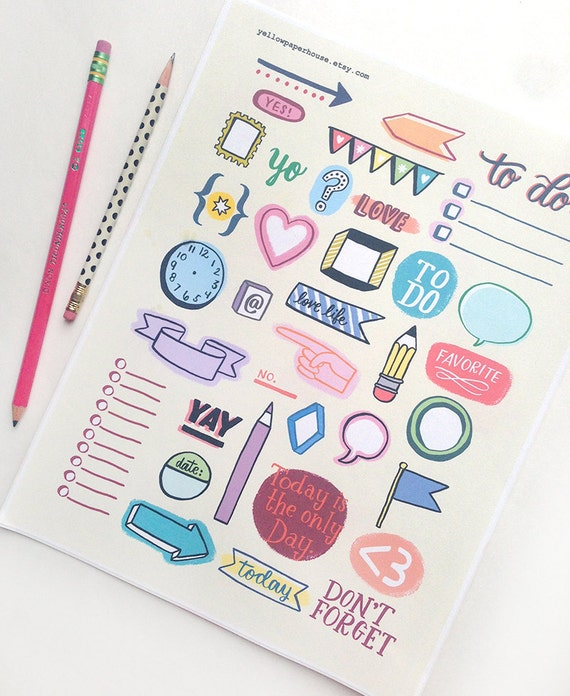 17 Best Ideas About Wedding Planner Book On Pinterest: Printable Planner Doodles Instant Download Organization
