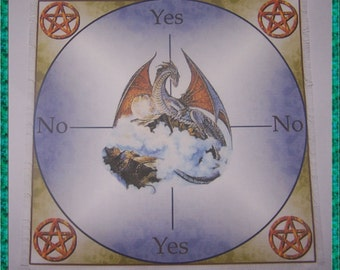 Dragon Scrying Mat, Dowsing wiccan Magic Divination.