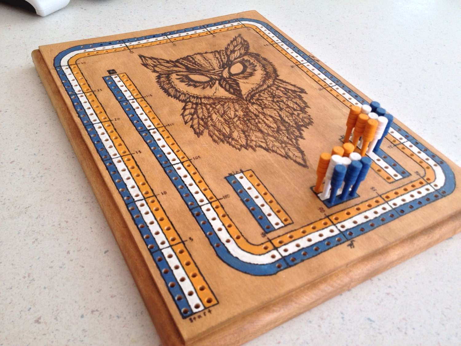 Personalized Cribbage Board. Free Shipping. Christmas Present.
